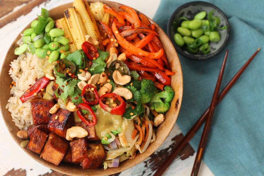 Gluten free vegan rice bowl